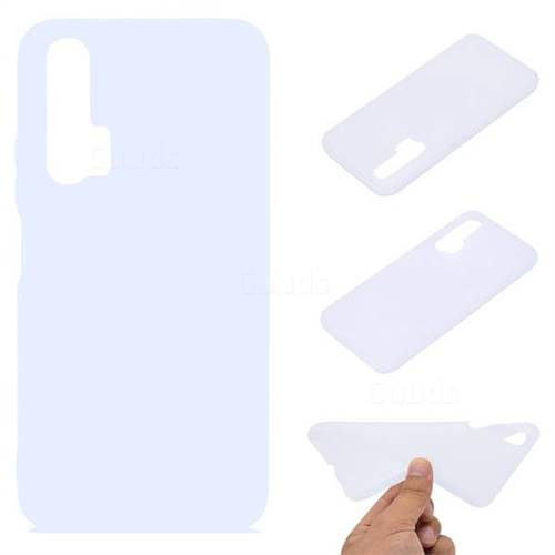Candy Soft TPU Back Cover for Huawei Honor 20 Pro - White