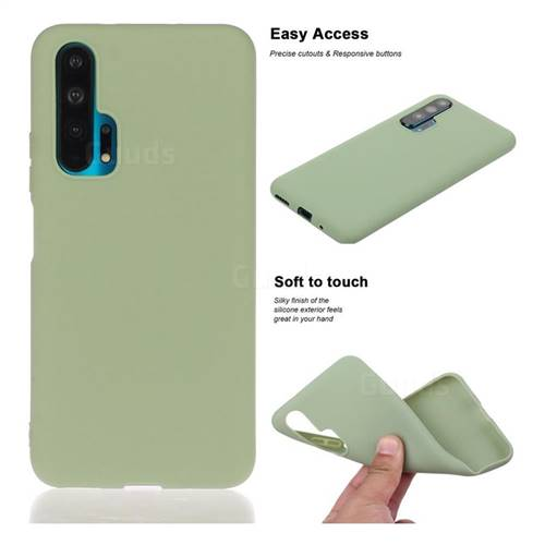 Soft Matte Silicone Phone Cover for Huawei Honor 20 Pro - Bean Green