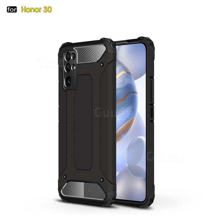 King Kong Armor Premium Shockproof Dual Layer Rugged Hard Cover for Huawei Honor 30 - Black Gold