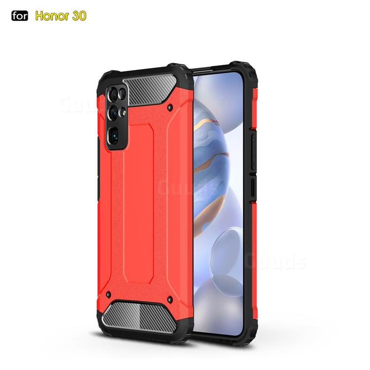 King Kong Armor Premium Shockproof Dual Layer Rugged Hard Cover for Huawei Honor 30 - Big Red