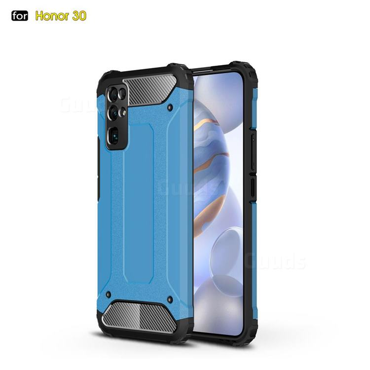 King Kong Armor Premium Shockproof Dual Layer Rugged Hard Cover for Huawei Honor 30 - Sky Blue