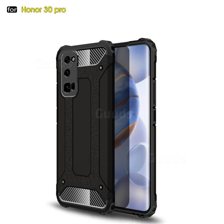 King Kong Armor Premium Shockproof Dual Layer Rugged Hard Cover for Huawei Honor 30 Pro - Black Gold