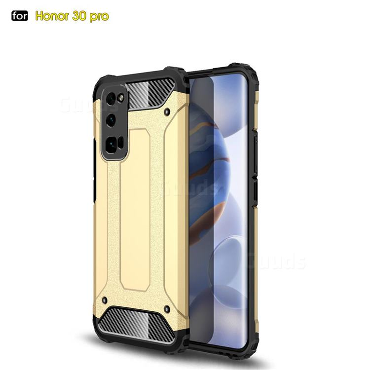 King Kong Armor Premium Shockproof Dual Layer Rugged Hard Cover for Huawei Honor 30 Pro - Champagne Gold