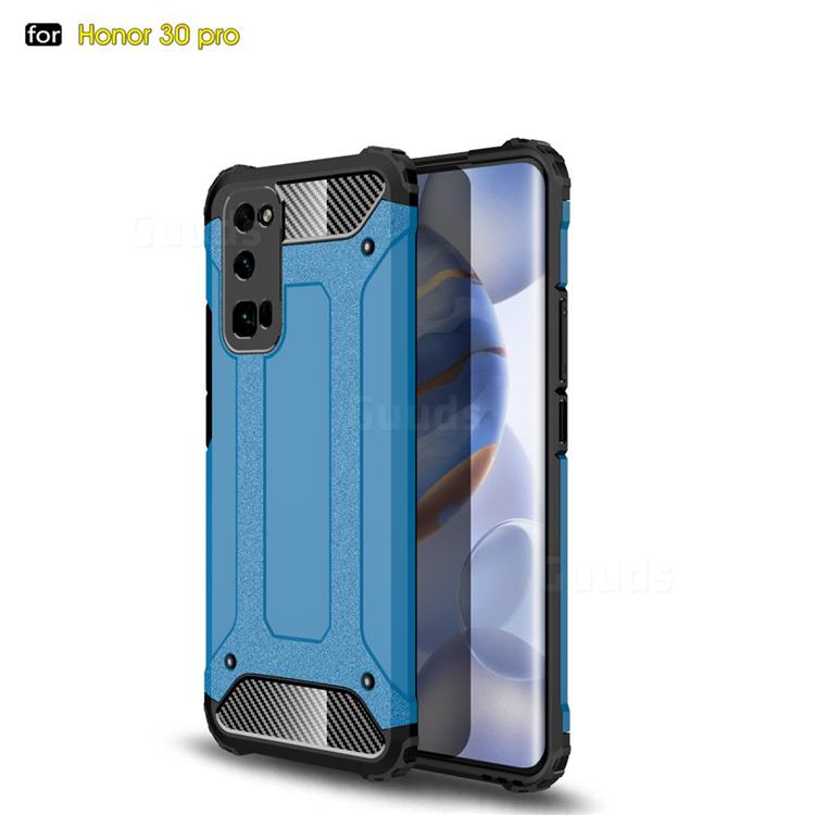 King Kong Armor Premium Shockproof Dual Layer Rugged Hard Cover for Huawei Honor 30 Pro - Sky Blue