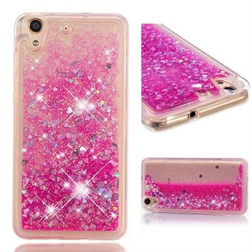 Dynamic Liquid Glitter Quicksand Sequins TPU Phone Case for Huawei Honor 5A - Rose