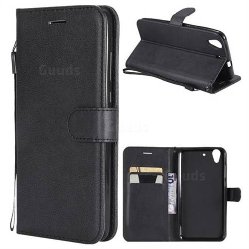 Retro Greek Classic Smooth PU Leather Wallet Phone Case for Huawei Honor 5A - Black