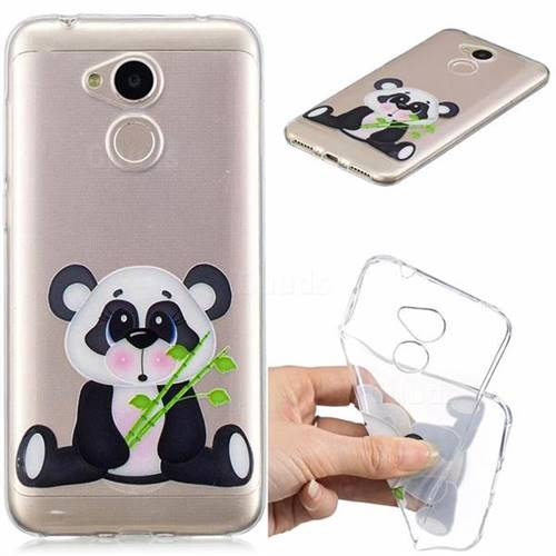 Bamboo Panda Clear Varnish Soft Phone Back Cover for Huawei Honor 6A