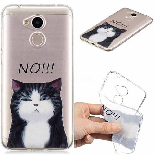 Cat Say No Clear Varnish Soft Phone Back Cover for Huawei Honor 6A
