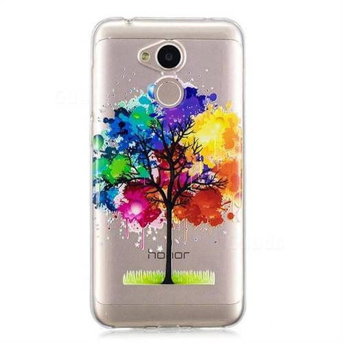 best service 54f48 0d829 Oil Painting Tree Clear Varnish Soft Phone Back Cover for Huawei ...