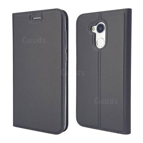 Ultra Slim Card Magnetic Automatic Suction Leather Wallet Case for Huawei Honor 6A - Star Grey