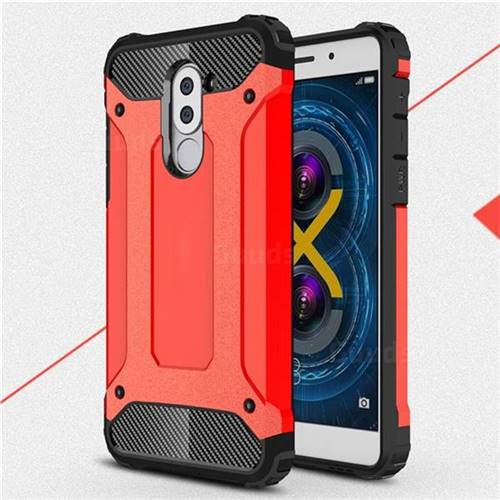 nuovo stile 3af23 ec62f King Kong Armor Premium Shockproof Dual Layer Rugged Hard Cover for Huawei  Honor 6X Mate9 Lite - Big Red