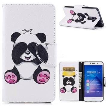 Lovely Panda Leather Wallet Case for Huawei Honor 6X Mate9 Lite
