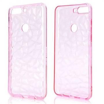 Diamond Pattern Shining Soft TPU Phone Back Cover for Huawei Honor 7C - Pink