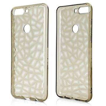 Diamond Pattern Shining Soft TPU Phone Back Cover for Huawei Honor 7C - Gray