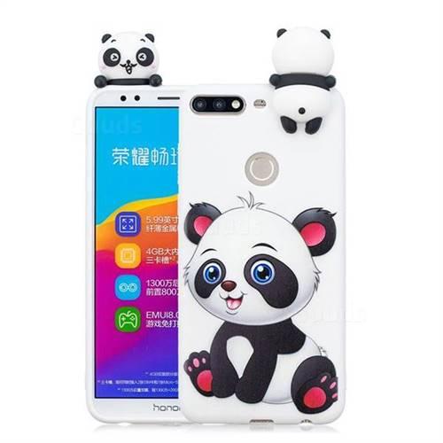 Panda Girl Soft 3D Climbing Doll Soft Case for Huawei Honor 7C
