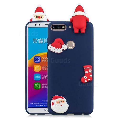 Navy Santa Claus Christmas Xmax Soft 3D Silicone Case for Huawei Honor 7C