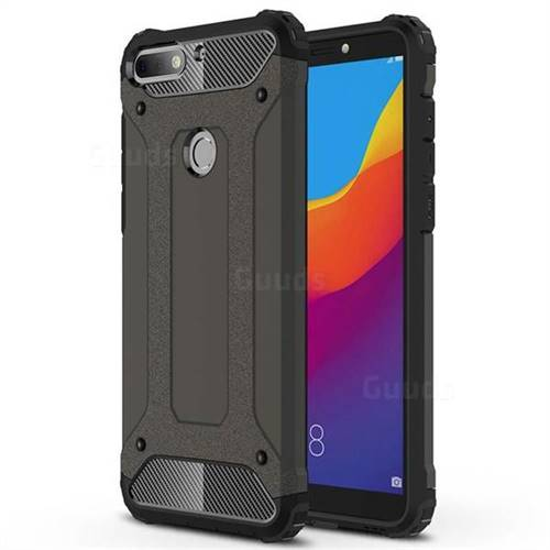King Kong Armor Premium Shockproof Dual Layer Rugged Hard Cover for Huawei Honor 7C - Bronze