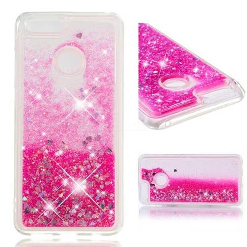 Dynamic Liquid Glitter Quicksand Sequins TPU Phone Case for Huawei Honor 7X - Rose