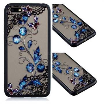 Butterfly Lace Diamond Flower Soft TPU Back Cover for Huawei Honor 7X