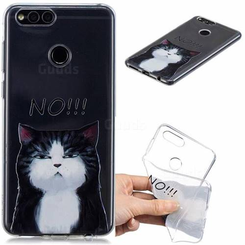 No Cat Clear Varnish Soft Phone Back Cover for Huawei Honor 7X