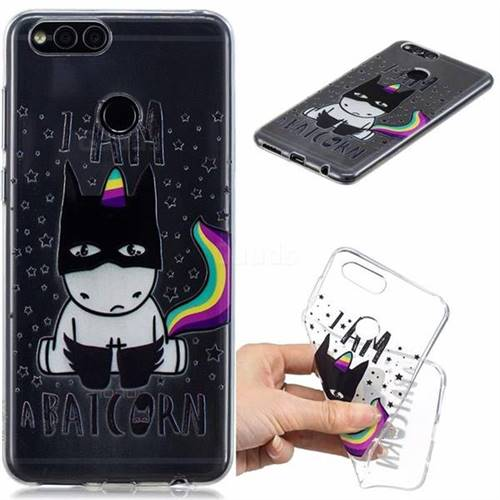 Batman Clear Varnish Soft Phone Back Cover for Huawei Honor 7X