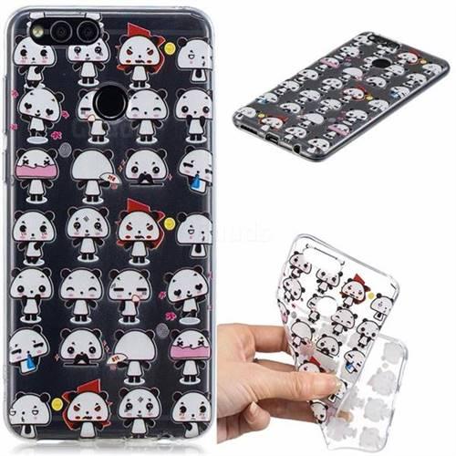 Mini Panda Clear Varnish Soft Phone Back Cover for Huawei Honor 7X