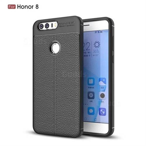 the latest 38a7f 84dd1 Luxury Auto Focus Litchi Texture Silicone TPU Back Cover for Huawei Honor 8  - Black - TPU Case - Guuds
