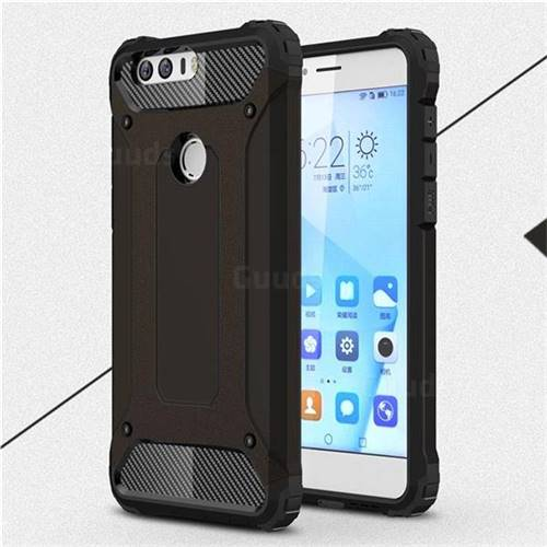 King Kong Armor Premium Shockproof Dual Layer Rugged Hard Cover for Huawei Honor 8 - Black Gold