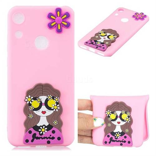 Violet Girl Soft 3D Silicone Case for Huawei Honor 8A