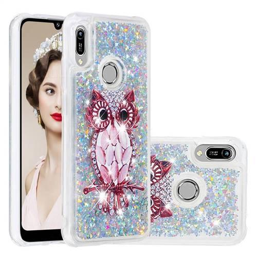 Seashell Owl Dynamic Liquid Glitter Quicksand Soft TPU Case for Huawei Honor 8A