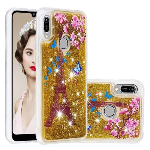 Golden Tower Dynamic Liquid Glitter Quicksand Soft TPU Case for Huawei Honor 8A