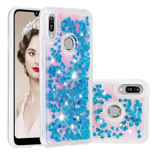 Dynamic Liquid Glitter Quicksand Sequins TPU Phone Case for Huawei Honor 8A - Blue