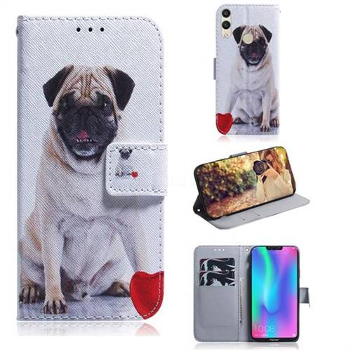 Pug Dog PU Leather Wallet Case for Huawei Honor 8C
