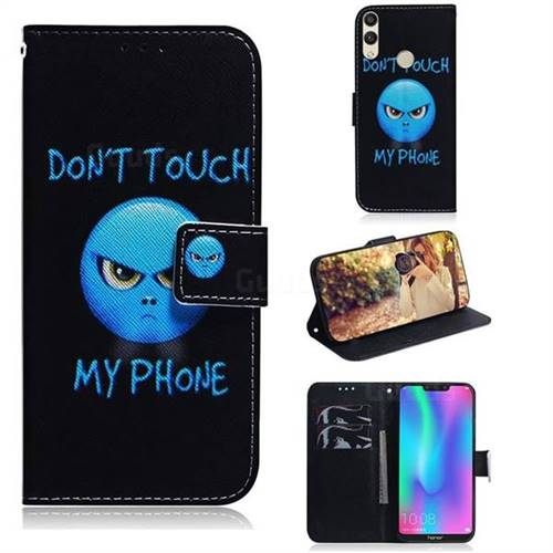 Not Touch My Phone PU Leather Wallet Case for Huawei Honor 8C