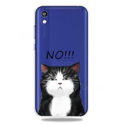 Cat Say No Clear Varnish Soft Phone Back Cover for Huawei Honor 8S(2019)