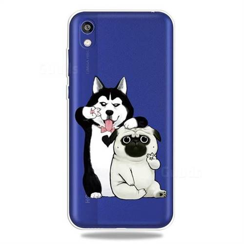 Selfie Dog Clear Varnish Soft Phone Back Cover for Huawei Honor 8S(2019)