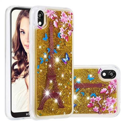 Golden Tower Dynamic Liquid Glitter Quicksand Soft TPU Case for Huawei Honor 8S(2019)