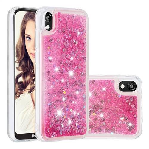 Dynamic Liquid Glitter Quicksand Sequins TPU Phone Case for Huawei Honor 8S(2019) - Rose