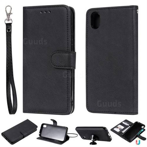 Retro Greek Detachable Magnetic PU Leather Wallet Phone Case for Huawei Honor 8S(2019) - Black