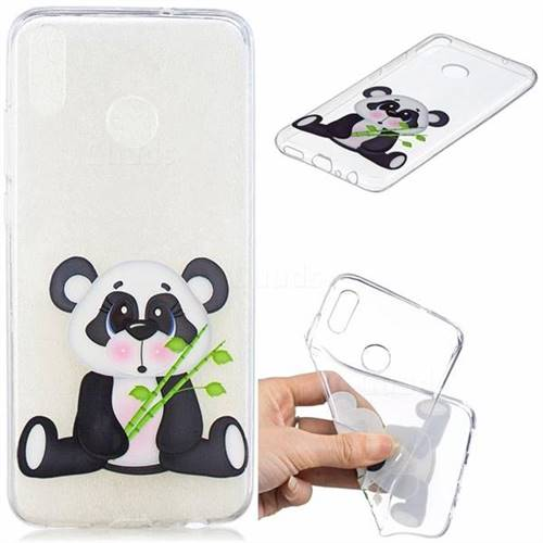 Bamboo Panda Clear Varnish Soft Phone Back Cover for Huawei Honor 8X