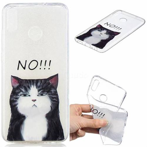No Cat Clear Varnish Soft Phone Back Cover for Huawei Honor 8X