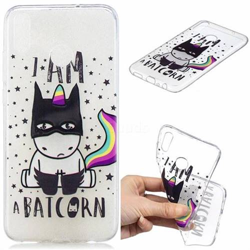Batman Clear Varnish Soft Phone Back Cover for Huawei Honor 8X