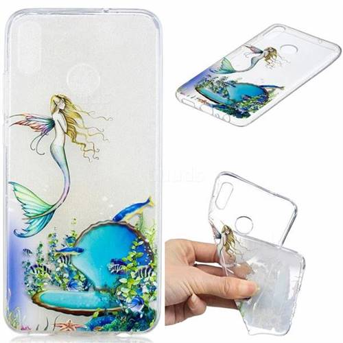 Mermaid Clear Varnish Soft Phone Back Cover for Huawei Honor 8X
