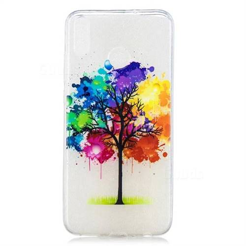 new styles 69371 b13eb Oil Painting Tree Clear Varnish Soft Phone Back Cover for Huawei Honor 8X