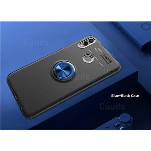 Auto Focus Invisible Ring Holder Soft Phone Case for Huawei Honor 8X -  Black Blue
