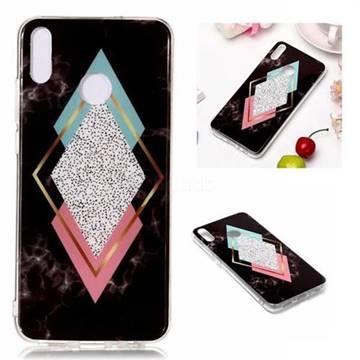 Black Diamond Soft TPU Marble Pattern Phone Case for Huawei Honor 8X