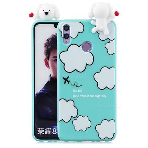 Cute Cloud Girl Soft 3D Climbing Doll Soft Case for Huawei Honor 8X
