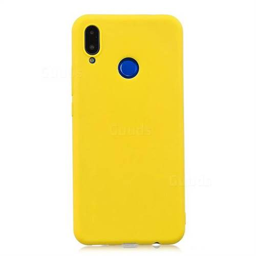 Candy Soft Silicone Protective Phone Case for Huawei Honor 8X - Yellow