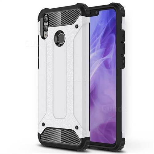 King Kong Armor Premium Shockproof Dual Layer Rugged Hard Cover for Huawei Honor 8X - White