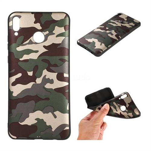 Camouflage Soft TPU Back Cover for Huawei Honor 8X - Gold Green